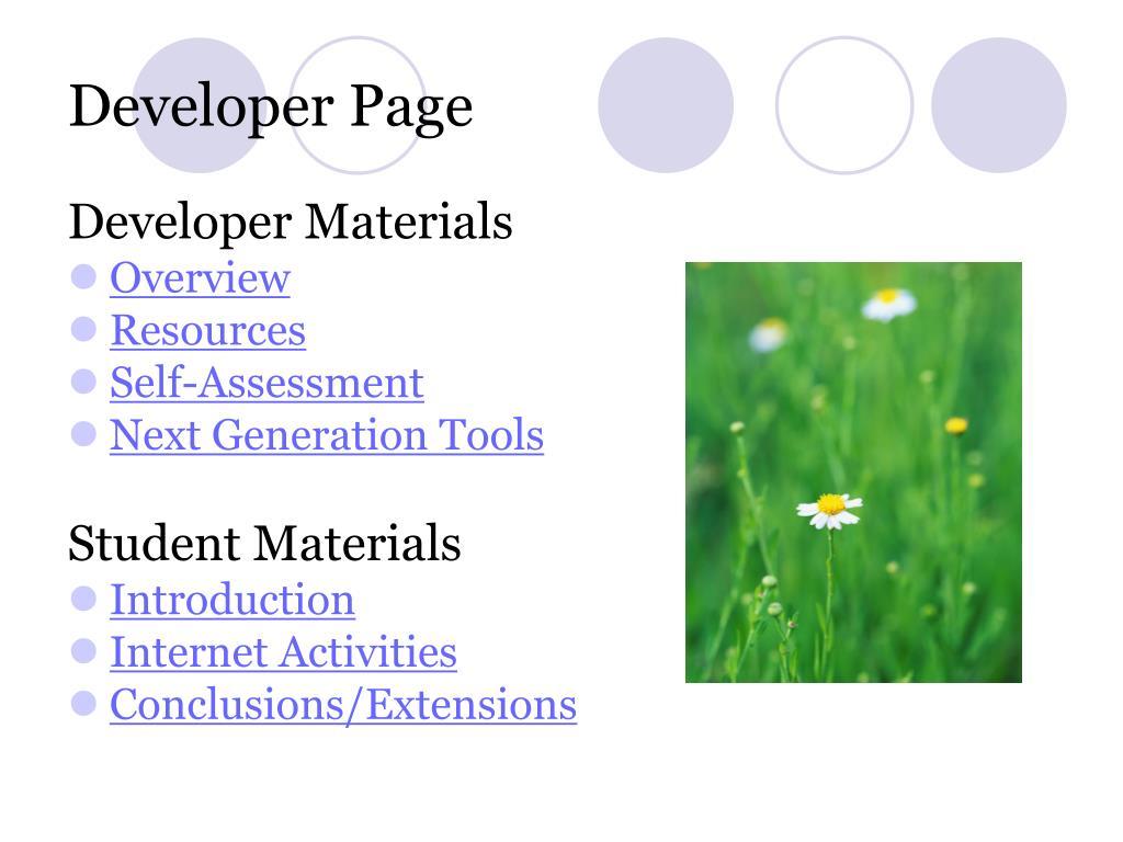 Developer Page