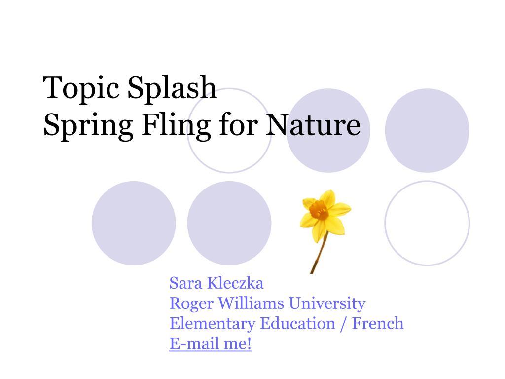 Topic Splash