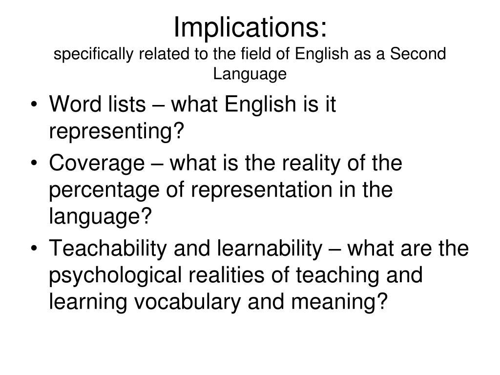 Implications: