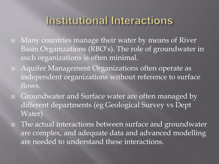 Institutional Interactions