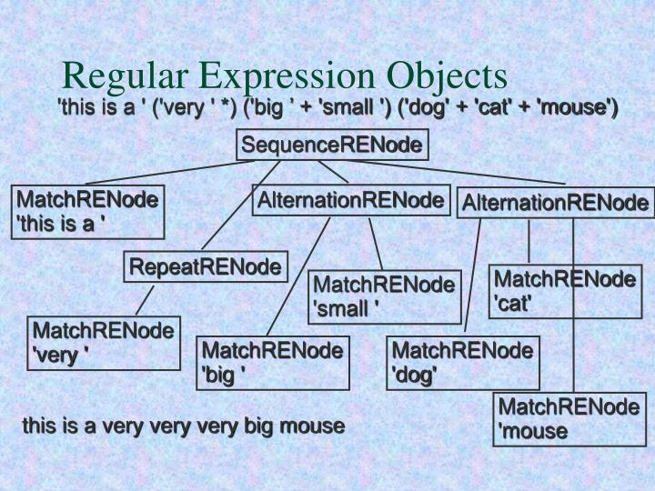 Regular Expression Objects