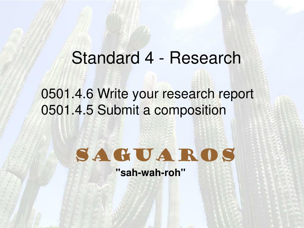 Standard 4 - Research