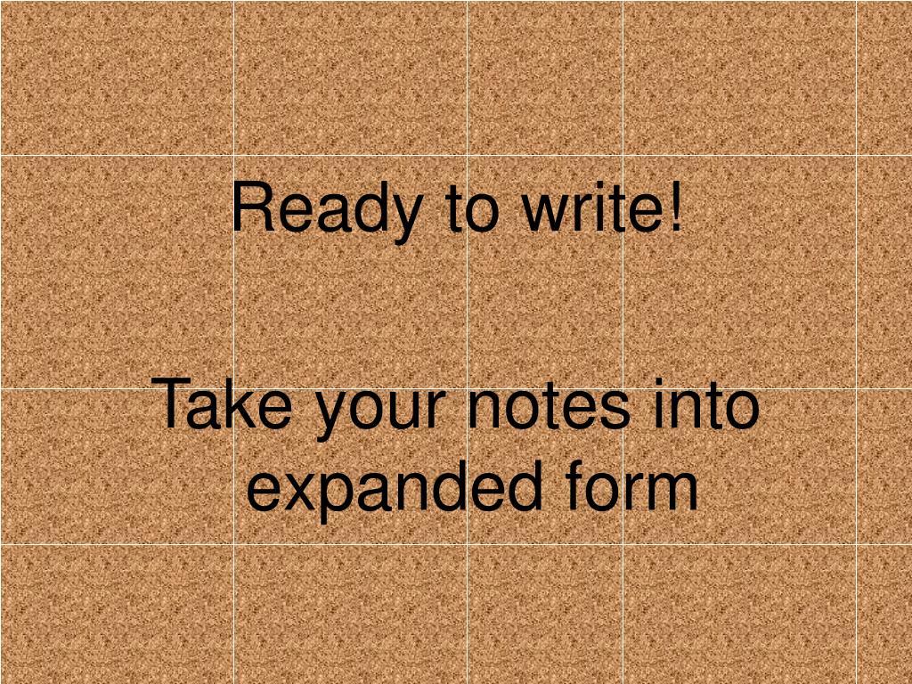 Ready to write!