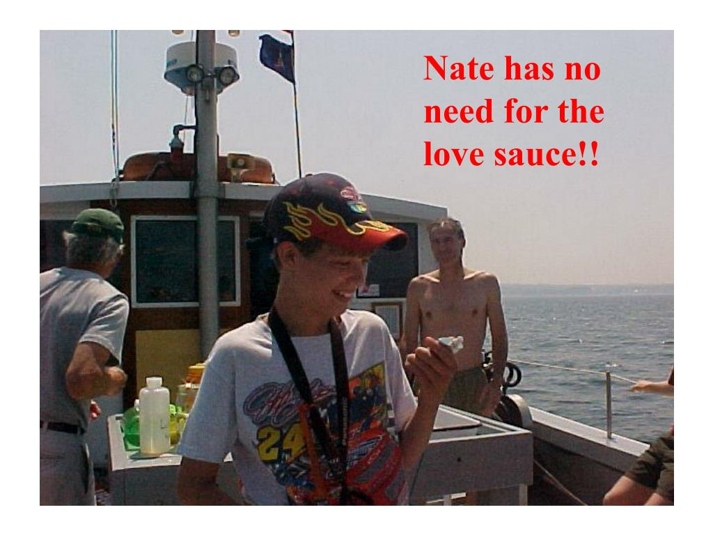 Nate has no need for the love sauce!!