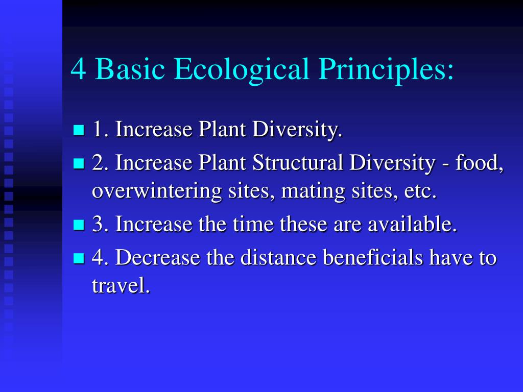 4 Basic Ecological Principles:
