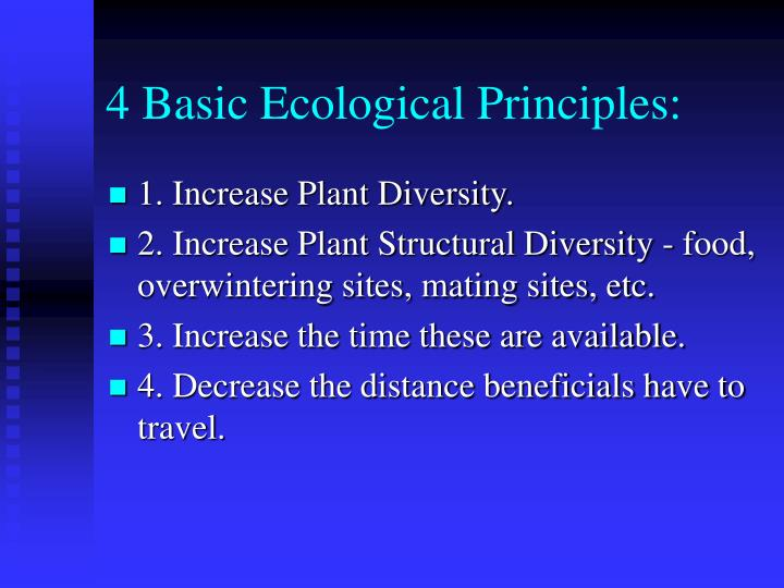 4 basic ecological principles