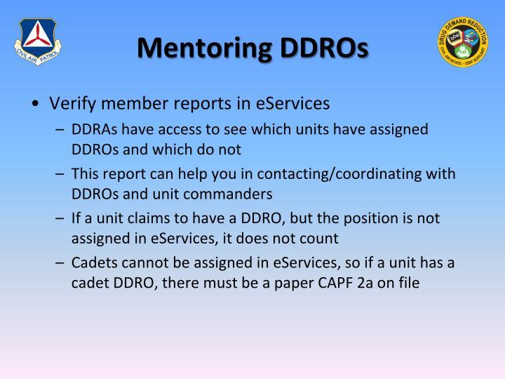 Mentoring DDROs