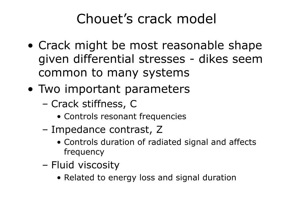 Chouet's crack model