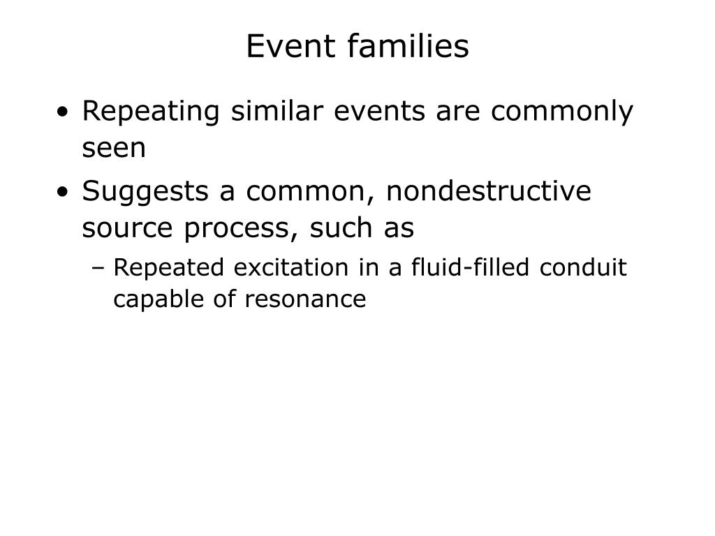 Event families