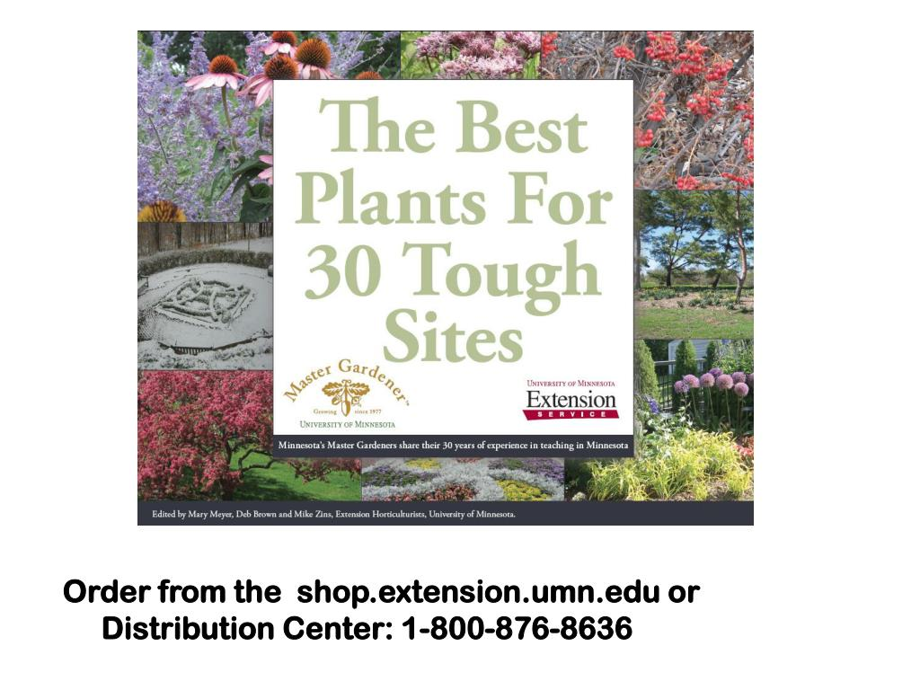 Order from the  shop.extension.umn.edu or