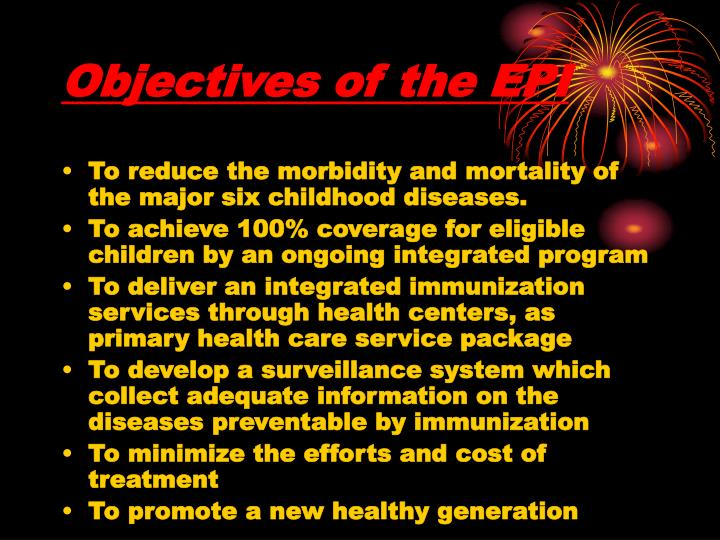 Objectives of the EPI