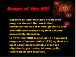 scope of the epi