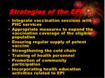 strategies of the epi
