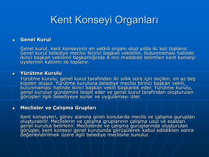 Kent Konseyi Organlar