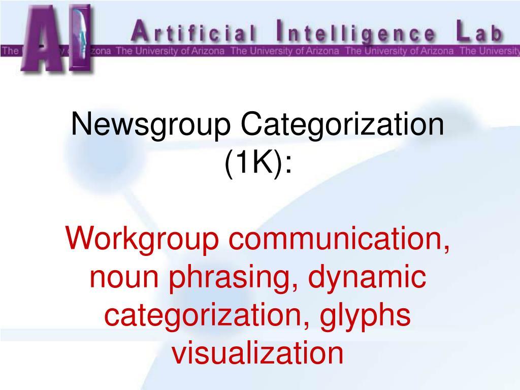 Newsgroup Categorization (1K):