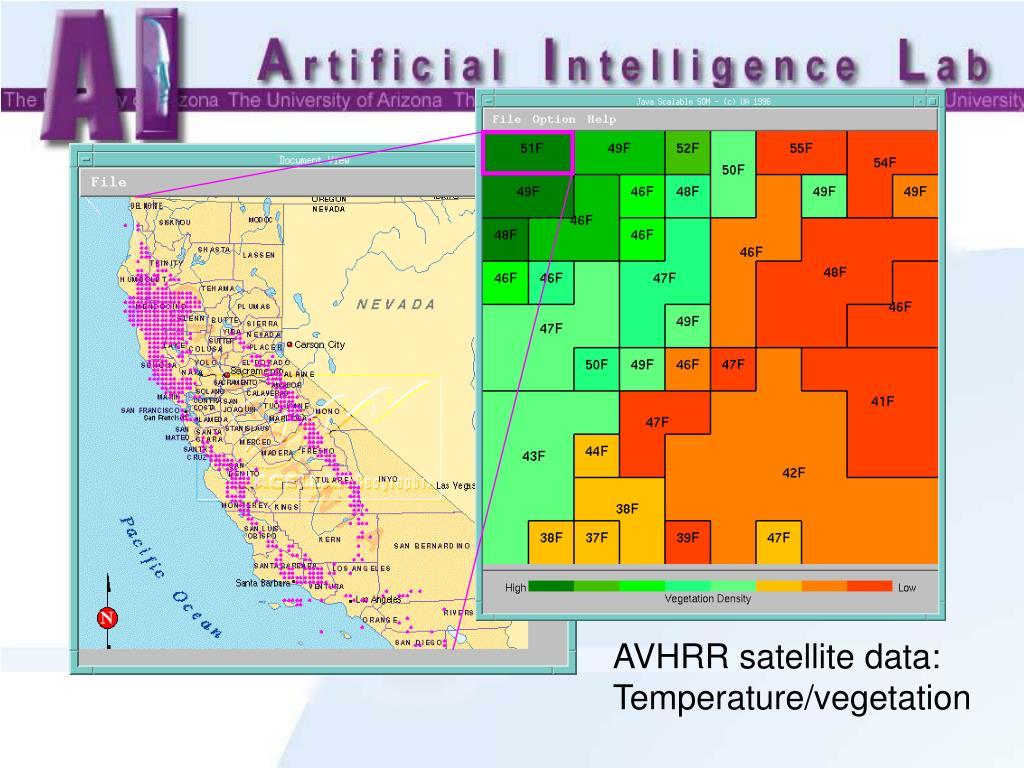 AVHRR satellite data: