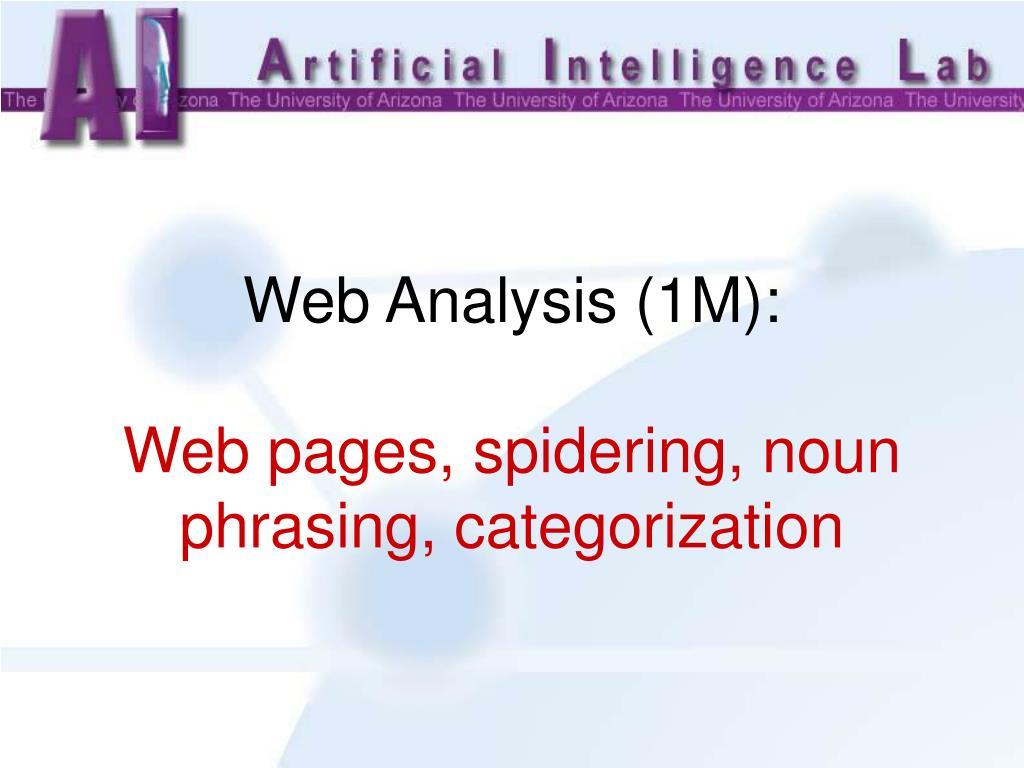 Web Analysis (1M):