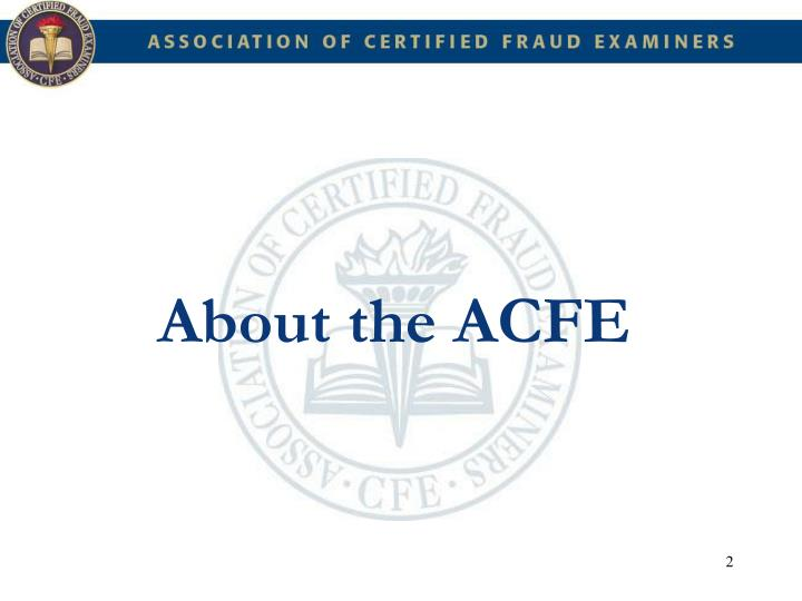 About the ACFE