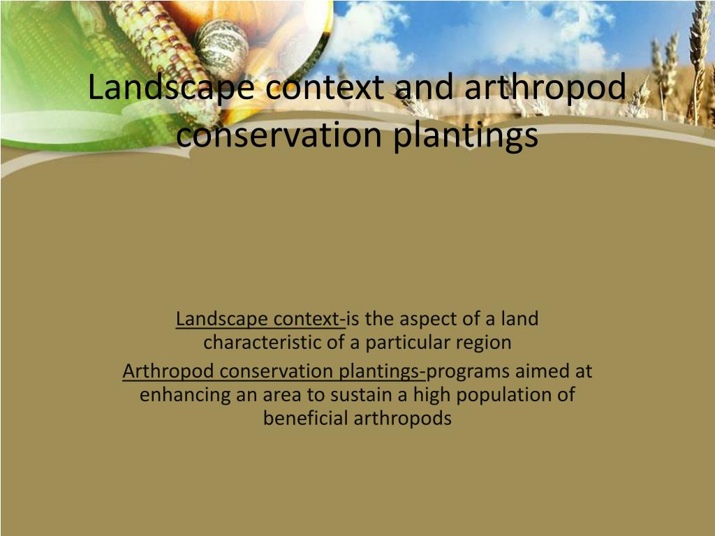 Landscape context and arthropod conservation plantings