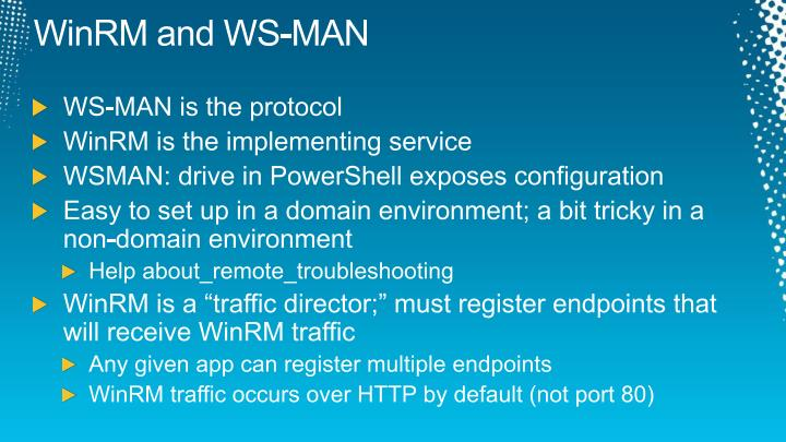 WinRM and WS-MAN
