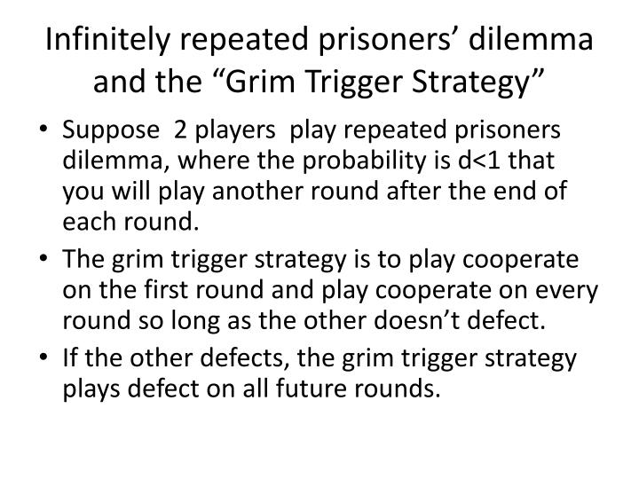 "Infinitely repeated prisoners' dilemma and the ""Grim Trigger Strategy"""