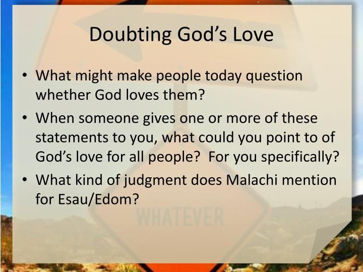 Doubting God's Love