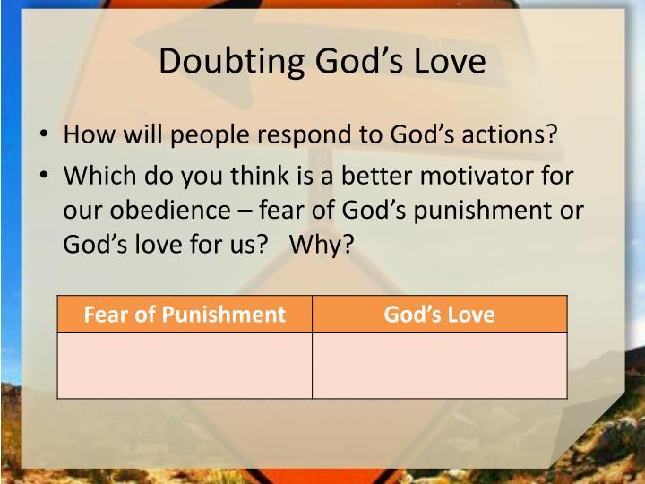 Doubting God's Love