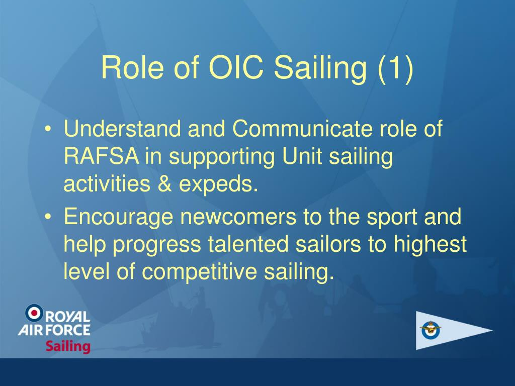 Role of OIC Sailing (1)
