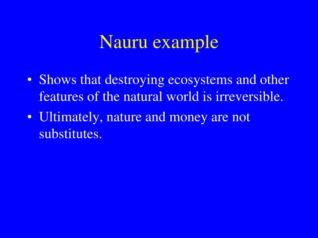 Nauru example