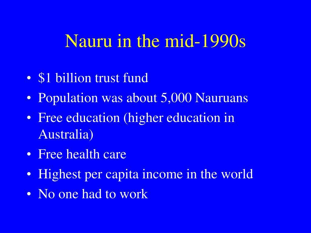 Nauru in the mid-1990s
