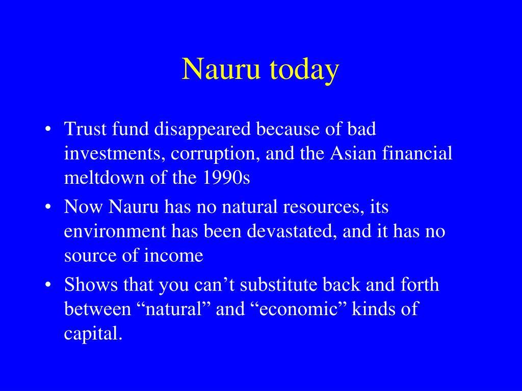 Nauru today