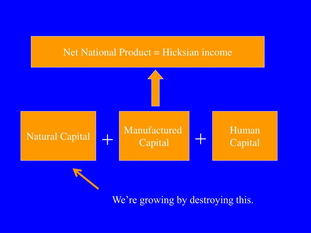Net National Product = Hicksian income