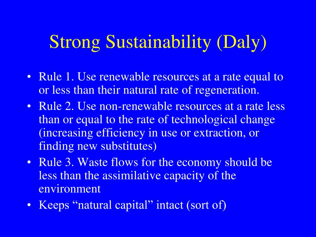 Strong Sustainability (Daly)
