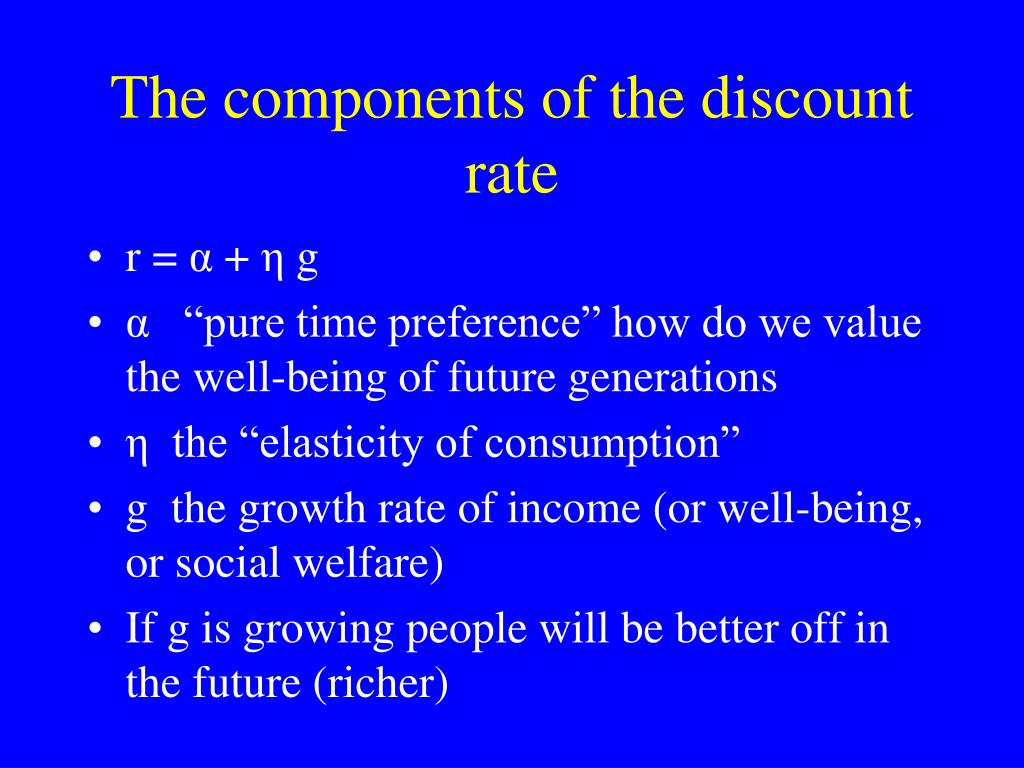 The components of the discount rate