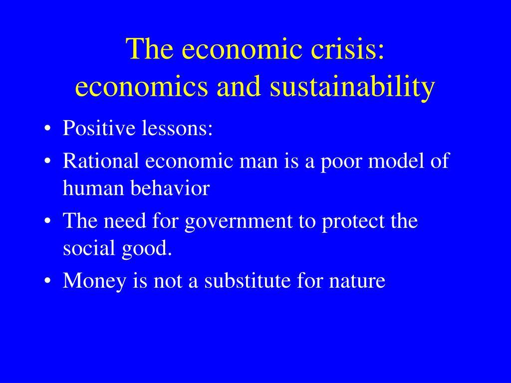 The economic crisis: