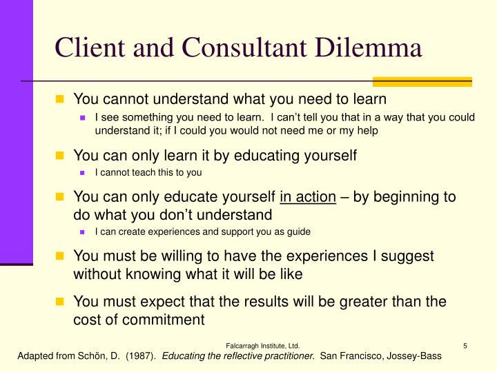Client and Consultant Dilemma