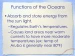 functions of the oceans