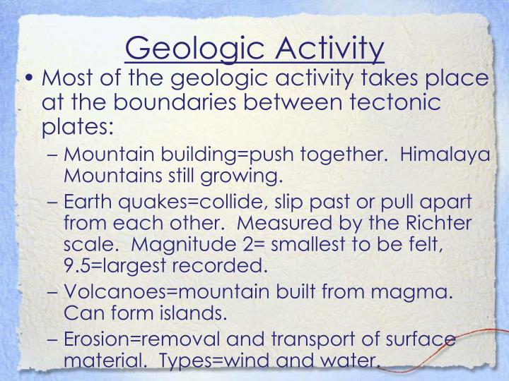 Geologic Activity