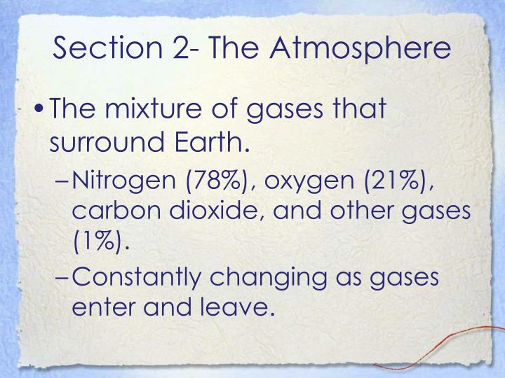 Section 2- The Atmosphere