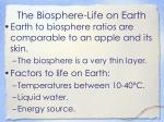 the biosphere life on earth