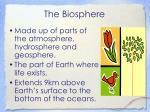 the biosphere