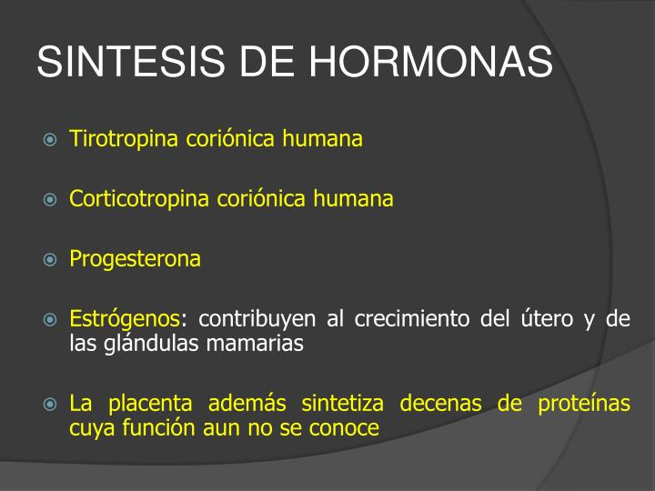 SINTESIS DE HORMONAS