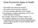 does economics apply to health care