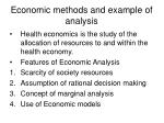economic methods and example of analysis