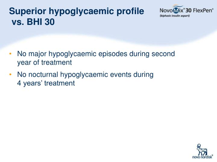 Superior hypoglycaemic profile