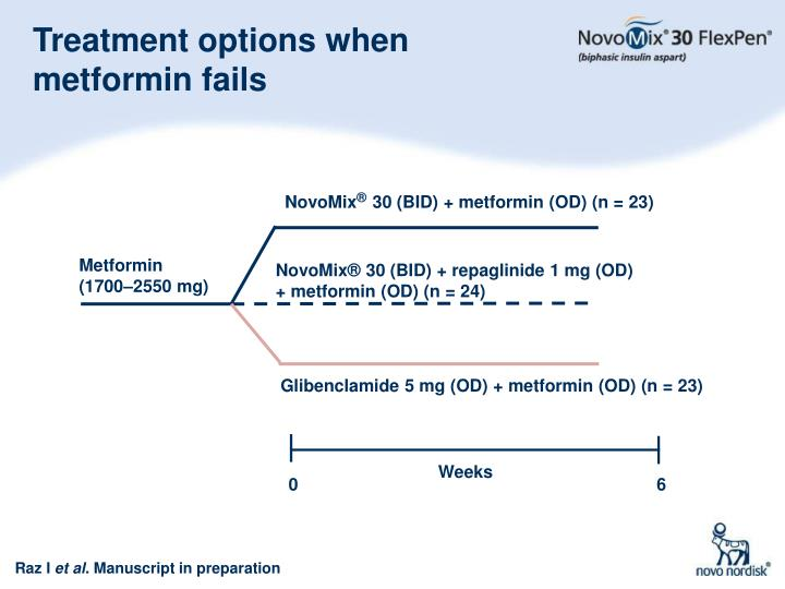 Treatment options when metformin fails