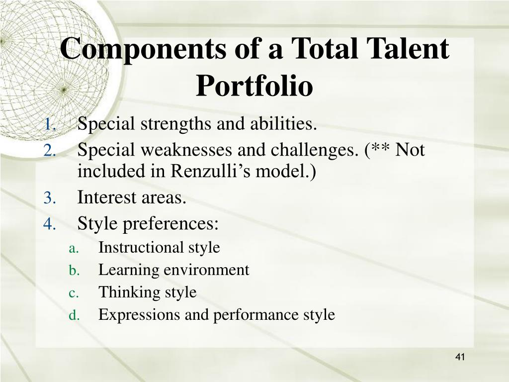 Components of a Total Talent Portfolio