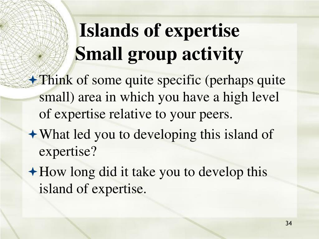 Islands of expertise