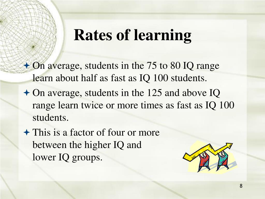 Rates of learning