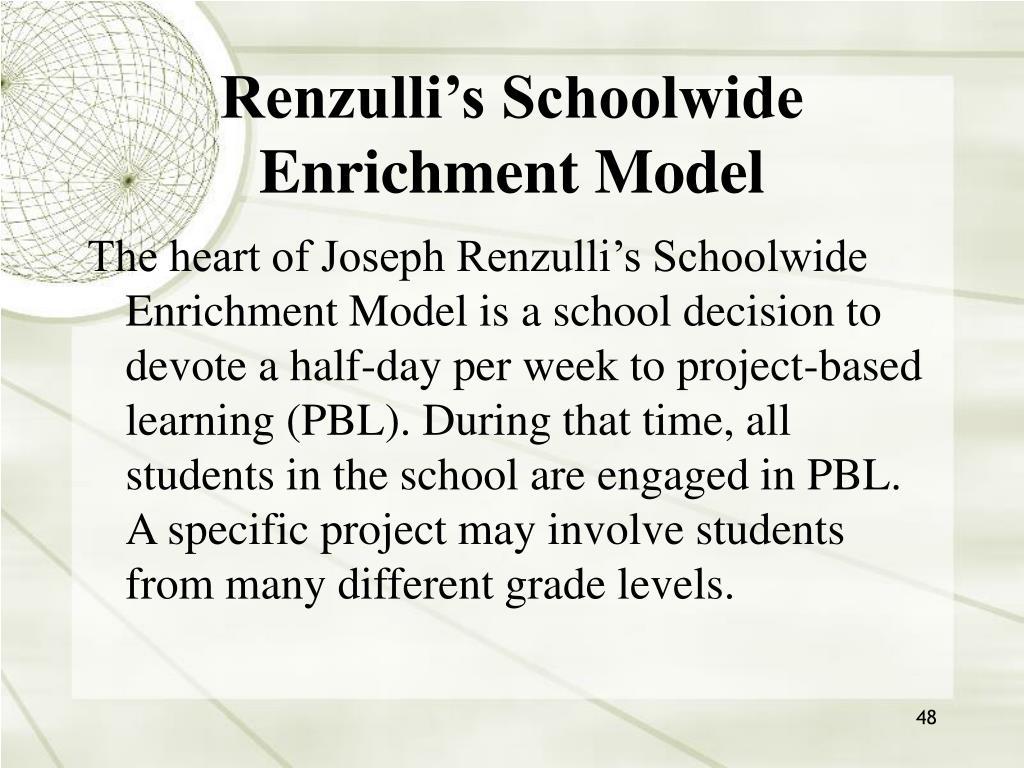 Renzulli's Schoolwide Enrichment Model